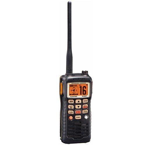 水に浮く 国際VHFトランシーバー HX851JL GPS内蔵★DSC機能搭載5W【送料無料】総務省技術基準適合品 ブラック