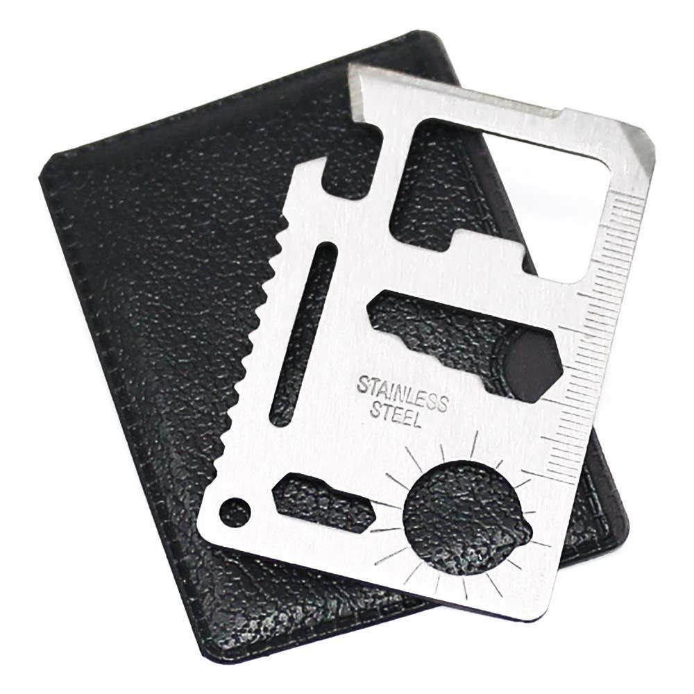 12in1 Portable Multi Purpose Pocket Credit Card Outdoor Camping Survival Tool UK