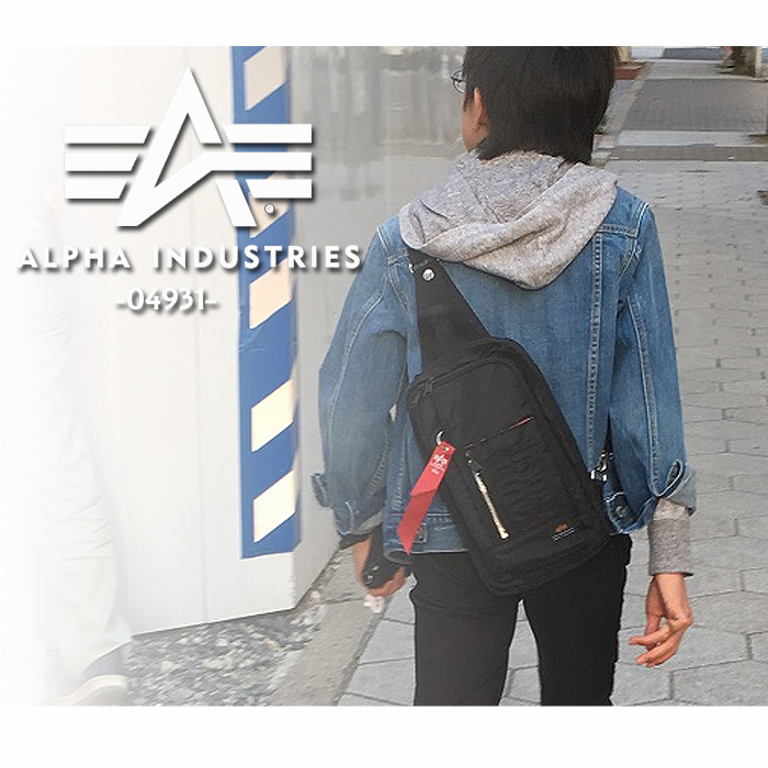 65e4c484f04e Body bag 04931 shoulder bag one shoulder casual alpha industry ALPHA man  and woman combined use men
