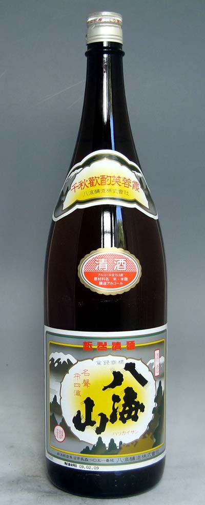 【送料無料の6本セット!新潟の地酒の定番!】八海山 清酒 1.8L×6本