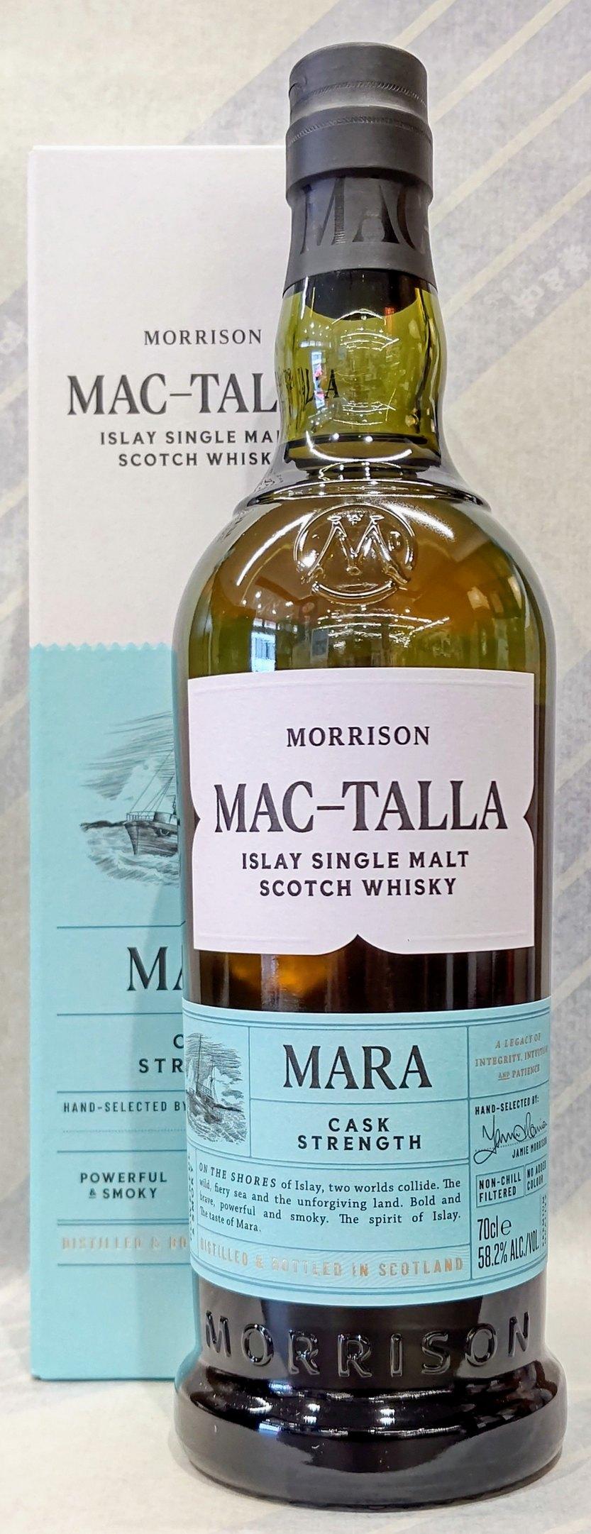 マクタラ 国内送料無料 マラ カスクストレングス 58.2% 数量限定アウトレット最安価格 700ml ディスティラーズ スコッチ モリソン ウイスキー