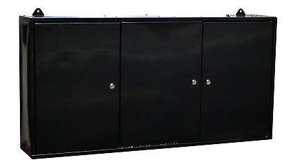 ウォールキャビネット 黒(ツールボックス 壁掛工具棚 工具箱 道具箱)