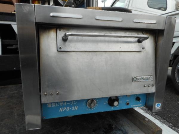 ニチワ ピザオーブン 2段 単相200V NPO-3N W56D59H43cm 石板【中古】