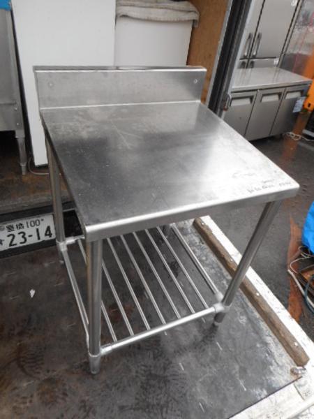 業務用 ステンレス 作業台 W60D60H80(+12)cm 中古 厨房【中古】