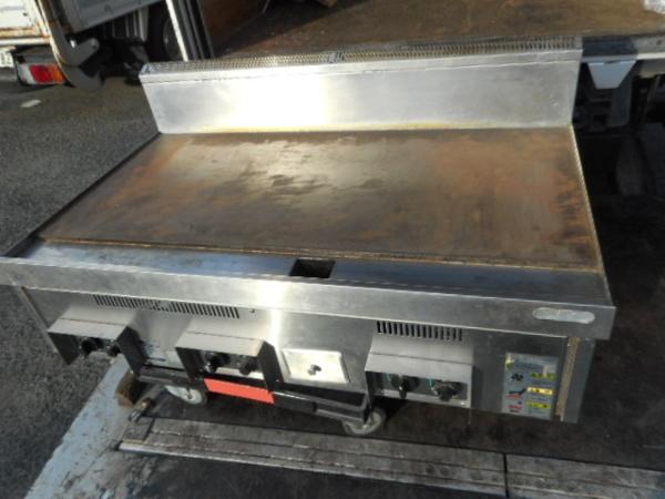 08年製タニコー LPガス グリドル 鉄板焼き器 W120D75H30サーモ付【中古】