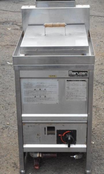 マルゼンMGU-046 角槽 茹で麺器 うどん釜 40L W45D60H80 LPガス 【中古】