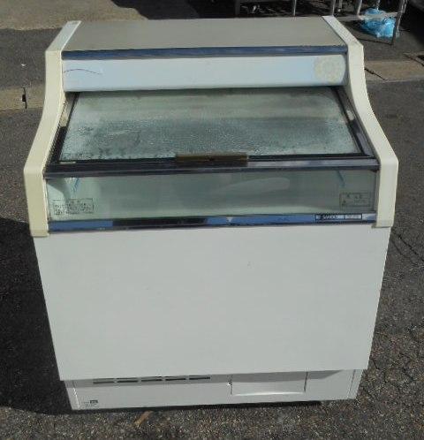 10年製 サンデン 冷凍ショーケース GSR-750XB W75D73H89cm 127L【中古】