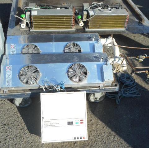 サンヨー プレハブ用 冷蔵ユニット 3馬力 天井置 ツイン 2坪【中古】