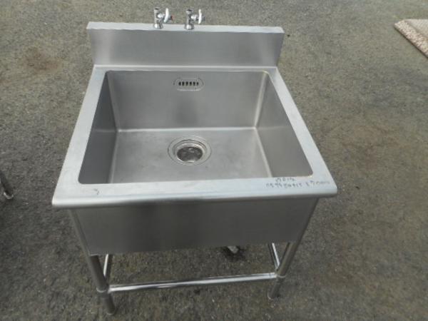 業務用 ステンレス 1槽シンク W75D75H80(+15)cm 厨房【中古】