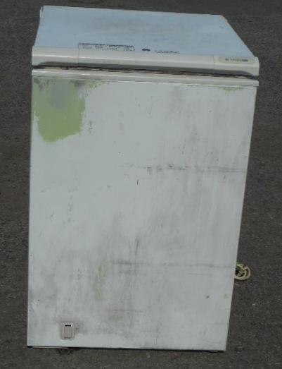 サンデン 冷凍 ストッカー 164L W611D662H893 内寸 W460D515深735mm SH-170X さび/難あり アイス 冷凍庫 フリーザー 2004年製【中古】