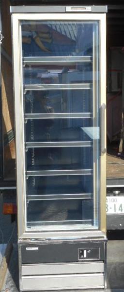 10年製 SRL-2065N サンヨー 冷凍 リーチイン ショーケース W608D650H1900mm 207L 162kg 3相200V + 100V フリーザー (営業所止め商品)【中古】