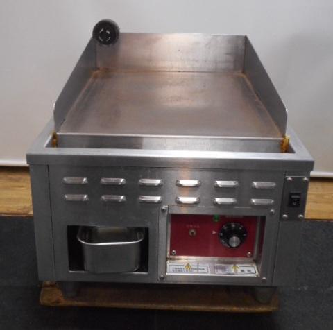 14年製 北沢 キタザワ 電気 グリドル 鉄板焼き 器 ER-45T 3相 200V 3.0kw W45D60H30cm 仲産業 2【中古】