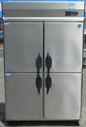 12年製 大和 ダイワ 縦型 冷凍冷蔵庫 2凍2蔵 423S2-EC 4ドア W120D80H190cm 3相200V 1020L 151kg インバーター 省エネ (営業所止め商品)【中古】