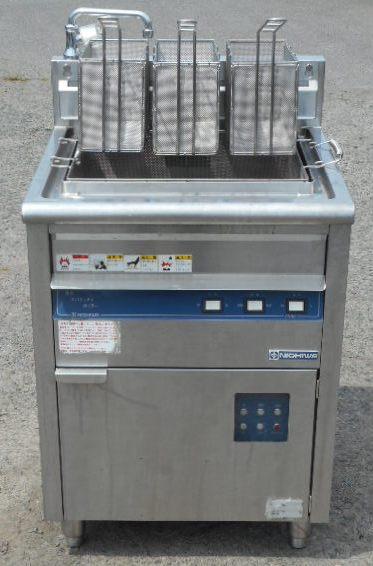 2010年製 ニチワ 電気 スパゲッティ ボイラー ENBS-600 3相200V 9kw W60D60H85cm ゆで麺 パスタ【中古】
