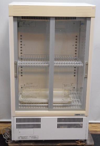 2006年製 サンヨー 冷蔵ショーケース SMR-M66NA W60D45H108cm 112L 中ビン66本 100V 54kg ビール【中古】