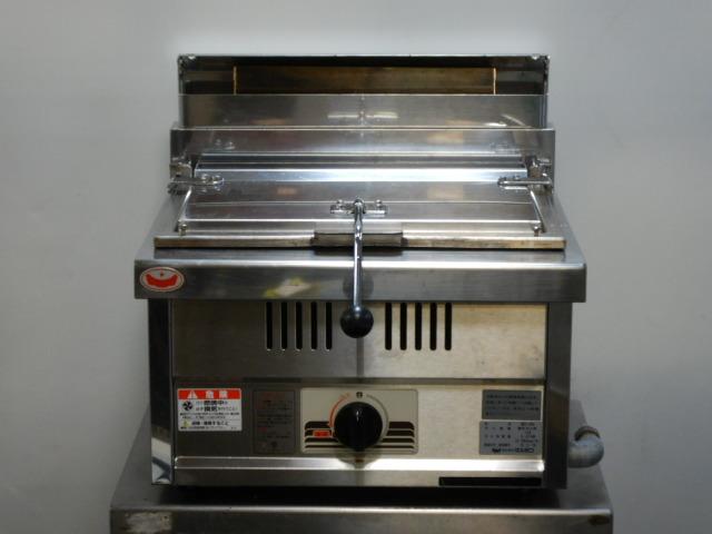 2015年製 マルゼン 卓上 餃子 焼き器 ギョーザ グリラー MGZ-044 都市ガス W45D45H27(+7)cm 23kg ギョウザ 13mmゴムホース接続【中古】