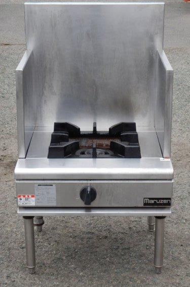 2008年製 マルゼン 都市ガス 1口 コンロ RGS-066B スープ レンジ NEW パワークック W60D60H50(+55)cm 【中古】