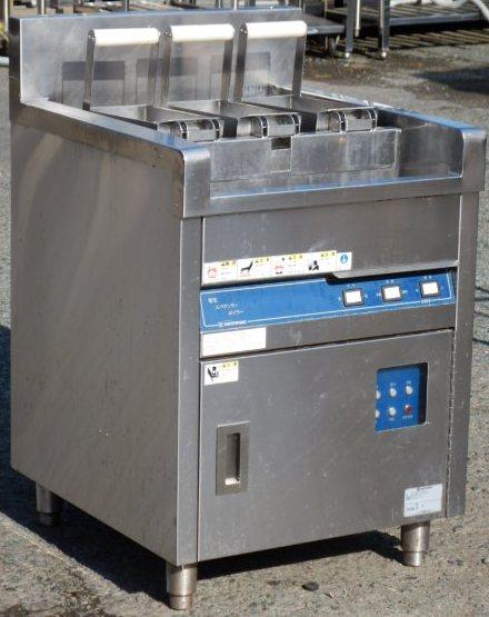 2007年製 ニチワ 電気 スパゲッティ ボイラー ENBS-600RSP 反転かご 3相200V 9kw W60D60H80cm パスタ スパゲティ ゆで麺【中古】