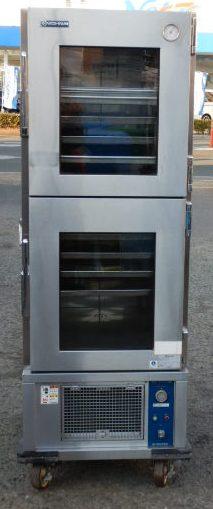 ニチワ クール ワゴン CW-451G 冷蔵 運搬車 W800D890H1750mm 100V 5~10度 144kg ストッカー 冷蔵庫 2005年製(西濃営業所止商品)【中古】