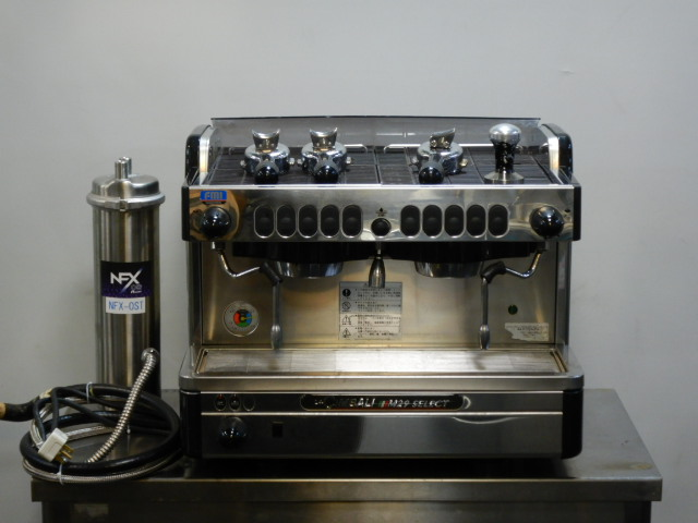 2008年製 ラ チンバリー M29 SELECT DT/2 コーヒー エスプレッソ マシン 単相200V W570D565H480mm 59kg 減圧弁 取説 浄水器 付 チンバリFMI【中古】