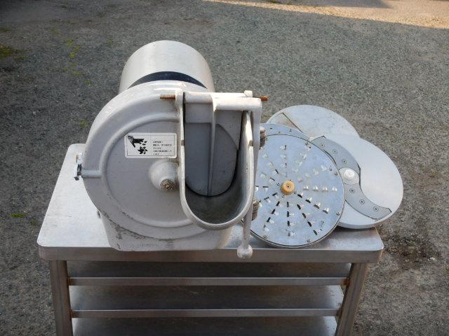 フジマック 万能 野菜 調理器 スライサー フード カッター 刃4種 輪切り ユニバーサル プレート 厚み調節可 ~13mm 4mm千切 おろし 100V 【中古】