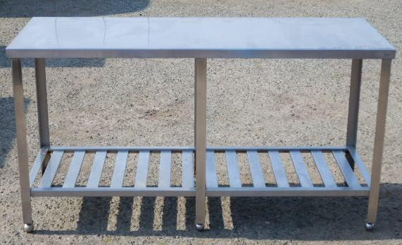 2 マルゼン 業務用 ステンレス 作業台 W150 D60 H80cm 重量物可 厨房 【中古】