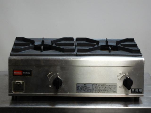 2011年製 リンナイ RSB-206N 2口 LP ガス テーブル 卓上 コンロ 内炎バーナー W542D350H204mm プロパン 9.5mmホース接続【中古】【店頭受取対応商品】