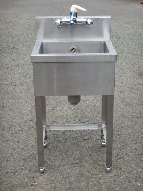 業務用 ステンレス 1槽 シンク W50 D45 H80(+15)cm 厨房【中古】【店頭受取対応商品】