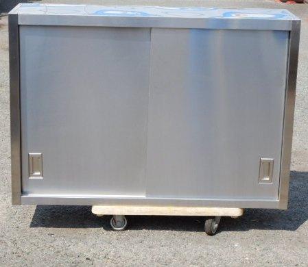 業務用 ステンレス 吊戸棚 W129 D35 H90 cm 厨房 食器庫 W130 棚2段 吊り戸【中古】【店頭受取対応商品】