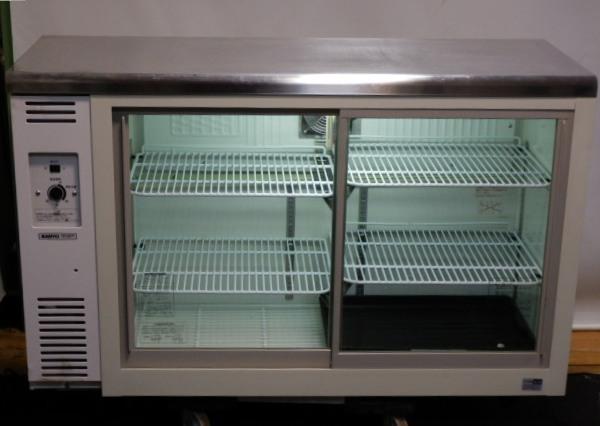 2011年製 サンヨー SMR-V1241NB コールド テーブル 形 冷蔵ショーケース 220L 65kg 100V W120 D45 H80cm【中古】【店頭受取対応商品】