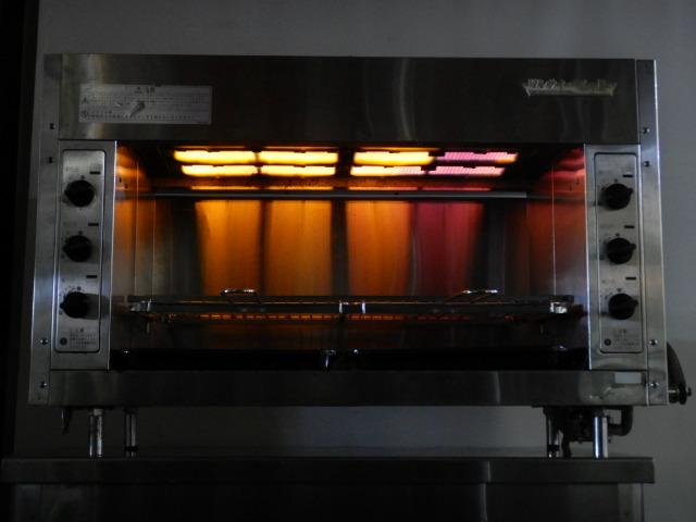 2008年製 リンナイ LPガス 上火式 赤外線 グリラー W988D425H602 mm RGP-46A-10 35kg ペット プロパン【中古】【店頭受取対応商品】