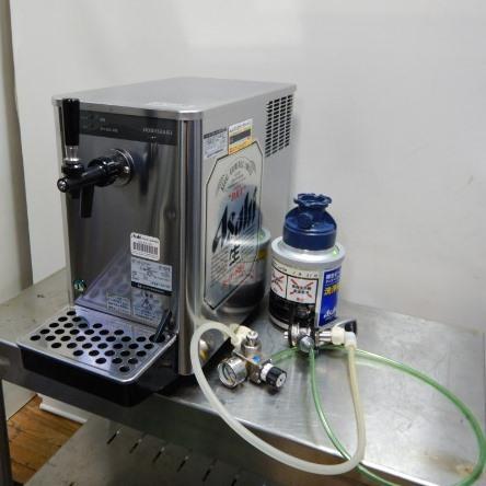 【中古】2009年製 ホシザキ 1口 ビール サーバー DBF-25SB ヘッド 減圧弁 洗浄樽付 ビア ディスペンサー W255D455(+130)H495mm 21kg (代引き不可)【店頭受取対応商品】