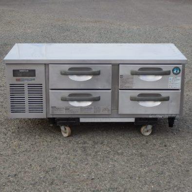 【中古】2007年製 ホシザキ 冷蔵 ドロワー 低 コールドテーブル RTL-120DNC W120D60H60cm 98L 100V 102kg 台下 冷蔵庫