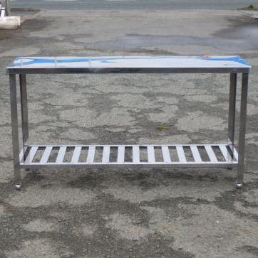 【中古】業務用 ステンレス 作業台 W150 D45 H80cm 厨房 さびあり