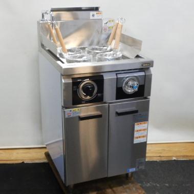【中古】2020年製 タニコー THU-50 角槽 都市ガス ゆで麺 機 ハイパワー 4テボ W50D60H80(+BG)cm 茹で麺 冷凍麺 対応 14kw 未使用