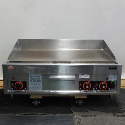 中古 2014年製 マルゼン 電気 限定品 グリドル MEG-096 贈り物 3相200V 9kw 代引き不可 重量105kg 鉄板W84D46cm 鉄板焼 +10 厚20mm W90D60H30 cm