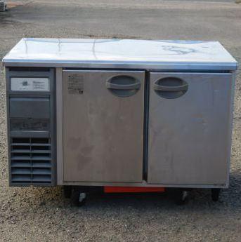 中古 2011年製 フクシマ 冷凍 コールドテーブル YRW-122FM1-F 受注生産品 冷凍庫 W120D75H80cm 新作 人気 316L テーブル型 90kg 100V