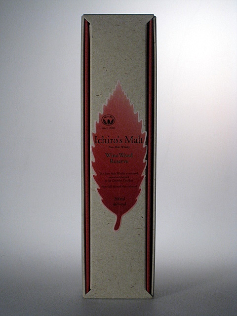 ICHIRO'S MALT Pure Malt Whisky Wine Wood Reserve 46% 20cl with gift package Chichibu Distillery