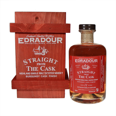 EDORADOUR 2002-2013 11yo Straight From the Cask BURGUNDY CASK FINISH 58.8% 50 cl with a wooden box