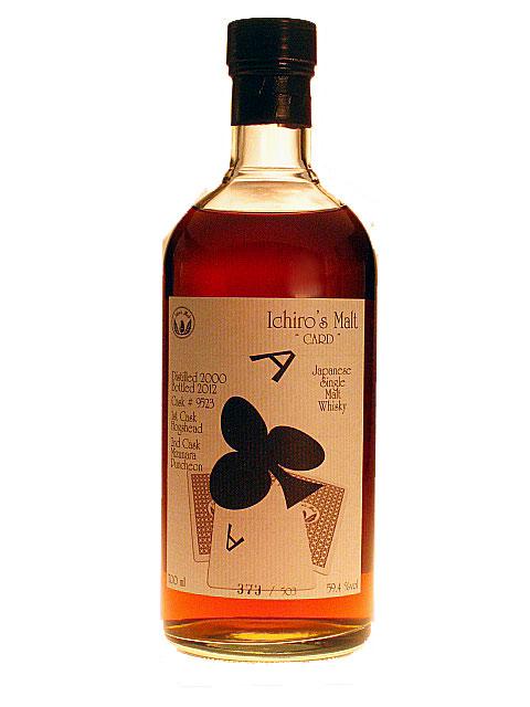 HANYU ICHIRO'S MALT CARD Ace of Clubs 59.4% 70cl MIZUNARA Puncheon