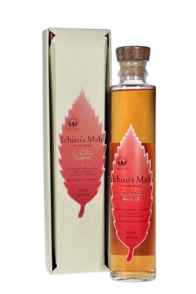 이치 로즈 맥 아 와인 우드 리 저 브 46% 200ml 선물 패키지 ICHIRO 'S MALT Pure Malt Whisky Wine Wood Reserve 46% 20cl with gift package Chichibu Distillery 중 위스키