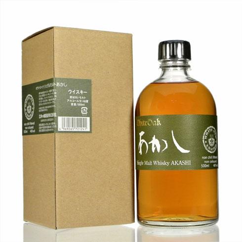화이트 오크 증거 싱글 몰 트 비 지 46% 500ml 江井 개의 嶋 증 AKASHI White oak singlemalt Non Age 46% 50cl by Eigashima Shuzo