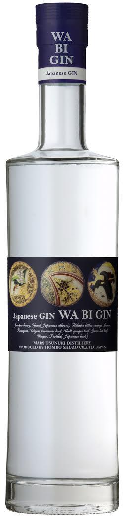 WA BI GIN Japanese Gin 45% 70cl MARS TSUNUKI Distillery by Hombo Shuzo