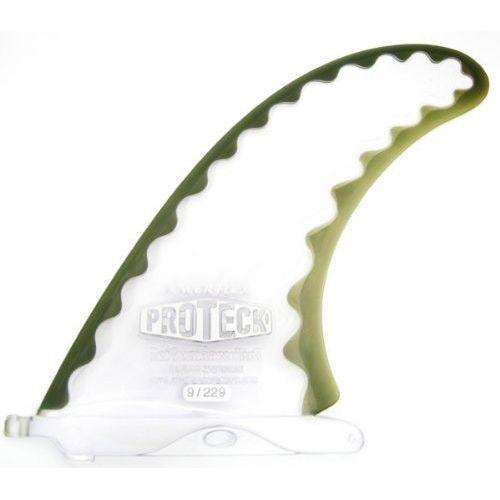 ロングボード用センターフィン PROTECK FIN(プロテック フィン) POWER FLEX 9.75インチ パワーフレックス クリアー/スモーク