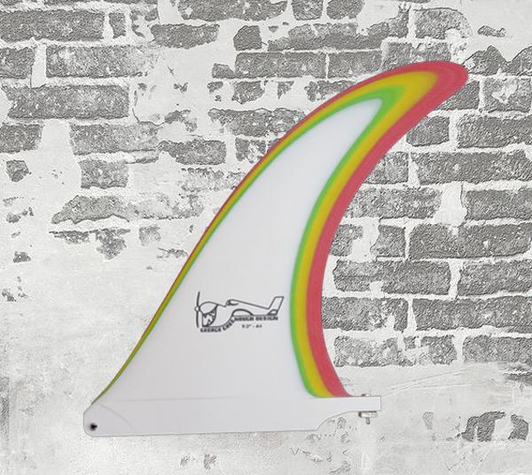 "FIBRE GLAS FINS/GERGE GREENOUGHモデル/4A 9.75""MULTI/RASTA"