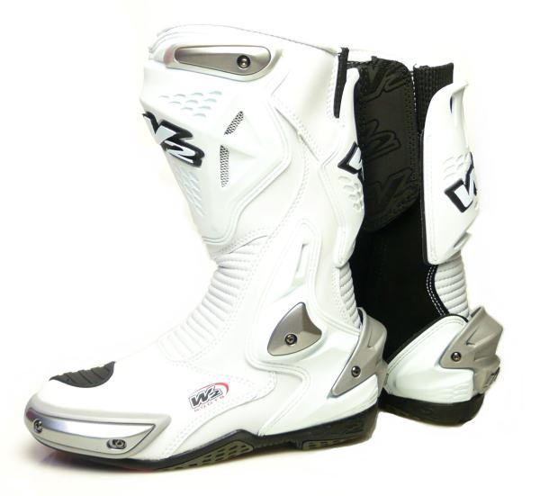 大特価!! W2ロードレーシングブーツ 海外 W2ブーツ ホワイト ミサノ