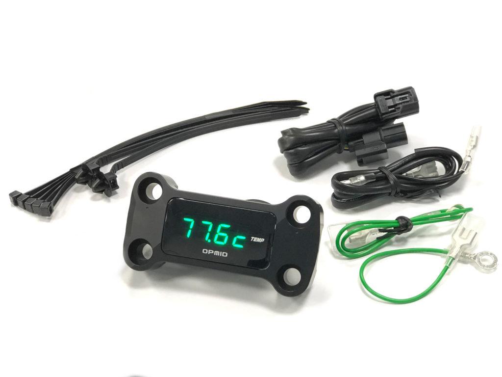 OPMID製OPトップインジケーター油温計&電圧計(ブラック)適合:グロム(JC75)