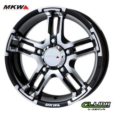 【ポイント5倍 継続中】MKW MK-55J 16x5.5J+20 139.7x5穴 111.7 ダイヤカットグロスブラック
