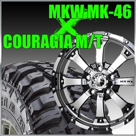 ★大決算セール★MKW MK-46 18x8.5J+53 127x5穴 71.7 ダイヤカットグロスブラック&35x12.50R18 フェデラル FEDERAL COURAGIA M/T クーラジア MT