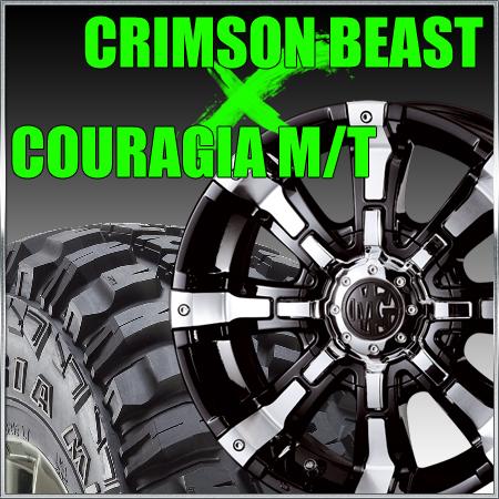CRIMSON MG BEAST 16x8J 114.3x5穴/127x5穴 クリムソン マーテルギア ビースト&ジムニー タイヤ 205/80R16 FEDERAL COURAGIA M/T クーラジア MT